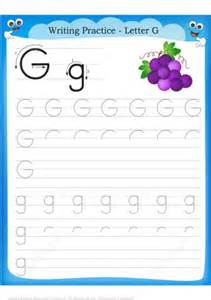 letter    grape handwriting practice worksheet