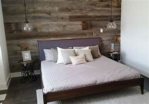 grey reclaimed barn board feature wall by barnboardstore With barn walls headboards