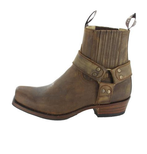 biker ankle boots sendra boots 8286 tang biker ankle boot brown fashion