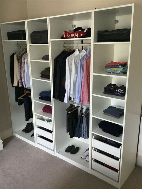 White Wardrobe With Shelves by Ikea Pax White Wardrobe Incl All Drawers Clothes Racks