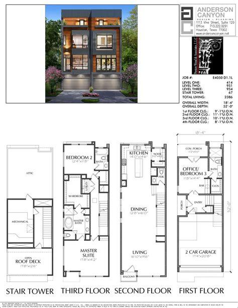 duplex townhouse plan    narrow house plans duplex house design townhouse designs