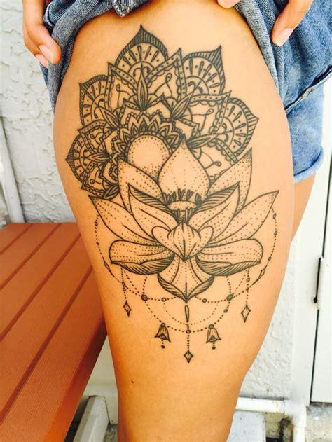 mandala thigh tattoo ideas  pinterest