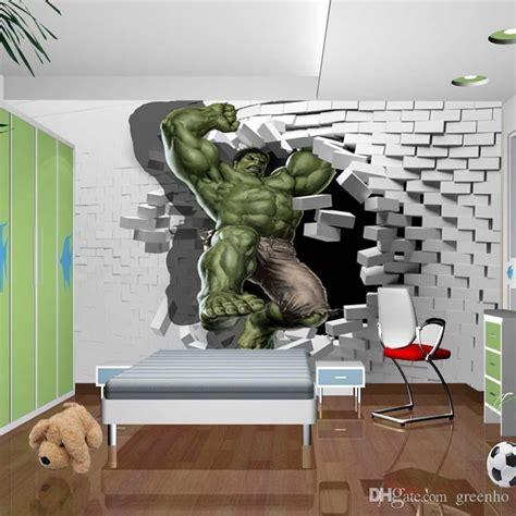 avengers photo wallpaper custom hulk wallpaper unique design bricks wall mural art room decor