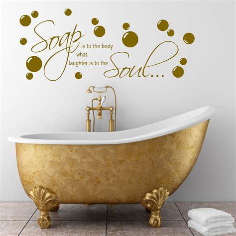 Bathroom Relaxation Quotes by Bathroom Wall Quote Soap Wall Sticker Decal Transfer