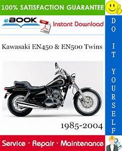 Kawasaki En450  U0026 En500 Twins Motorcycle Service Repair