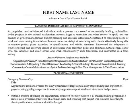 10 best images about best project manager resume templates