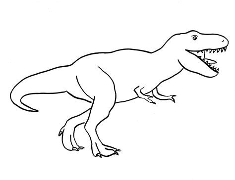 Simple T Rex Drawing Coloring Pages How To Draw A T Rex