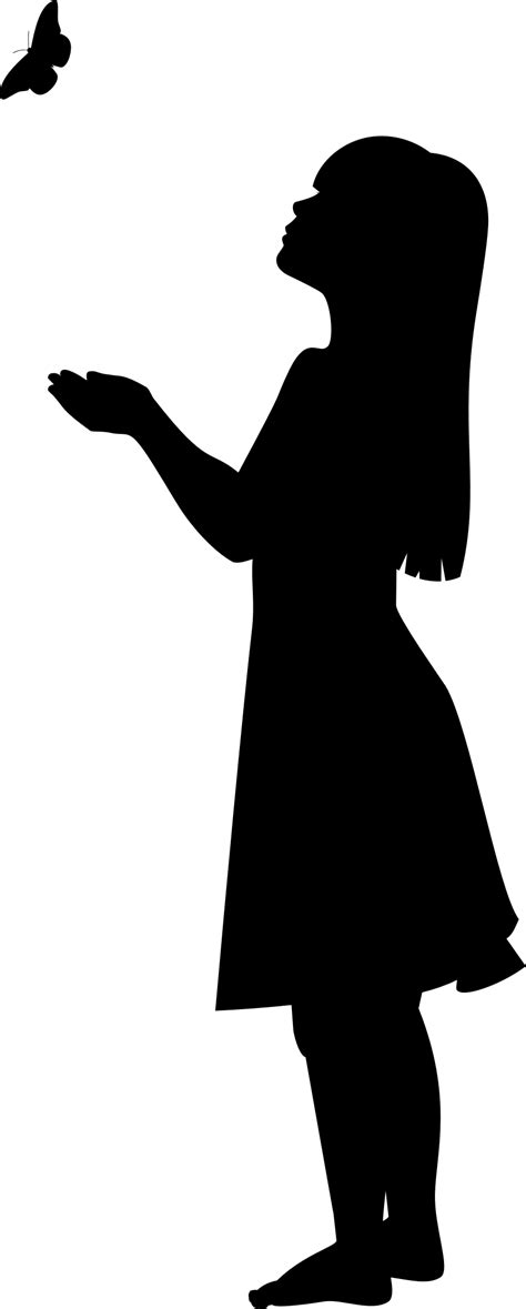 Silhouette Girl Group - Girl Silhouette Transparent