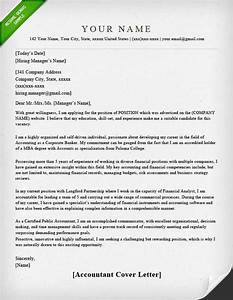 accounting finance cover letter samples resume genius With cover letters for accountants