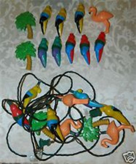 Tropical Patio RV Light String & covers Parrots Palm Tree