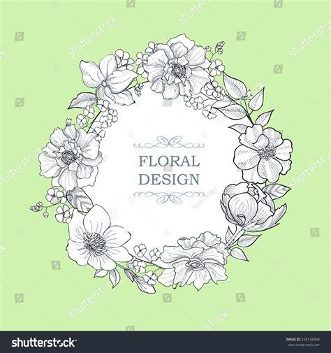 flower frame vintage floral background victorian stock