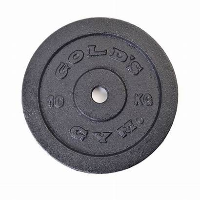 Gym Weight Plate Golds 10kg Iron Cast