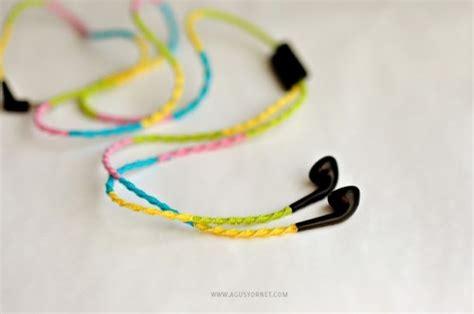colorful diy headphones decor ideas shelterness