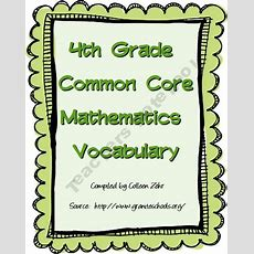 33 Best Images About Common Core 4th Grade On Pinterest  Assessment, Vocabulary Word Walls And