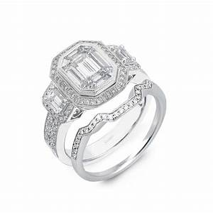 platinum simon g engagement ring like kim kardashian39s With matching engagement ring and wedding band