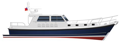 Small Displacement Motor Boat by Seaward 42 E16 Motor Yacht Launch At The Southton Boat