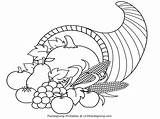 Cornucopia Coloring Thanksgiving Clipart Pages Printable Outline Clip Turkey Printables Kindergarten Activity Blessing Popular Happy Getcoloringpages Coloringhome sketch template