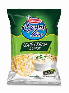 National Cream Thins Sour Cream & Onion Crackers ...