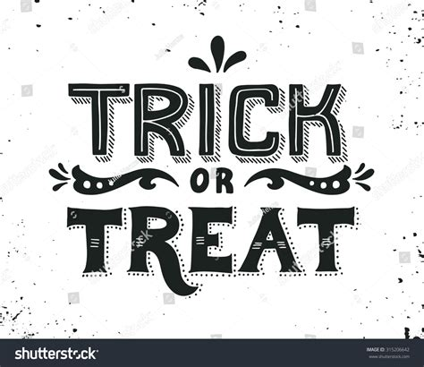 white font resume trick trick or treat lettering this illustration can be used as a greeting card