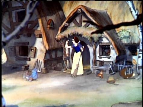 disney females images snow white cleans  dwarfs house