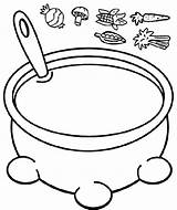 Soup Coloring Pot Jacob Esau Stone Bible Pages Preschool Crafts Sunday Stew Activities Chicken Story Cooked Cooking Pumpkin Collage Vegetable sketch template