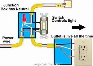 How To Wire Up A Light Junction Box New Outlet To Switch