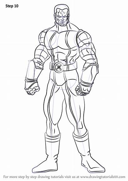 Draw Step Drawing Colossus Dc Comics Tutorials