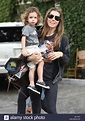 Jessica Biel out and about with her son Silas Randall ...