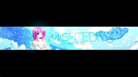 Anime Channel Banner Template 5 Free Anime Banner Template Psd