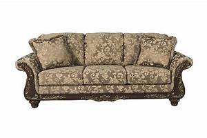 Signature Design By Irwindale Traditional Topaz Sofa Product Shown On A White Background Traditional Living