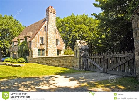 tudor style cottage royalty  stock  image