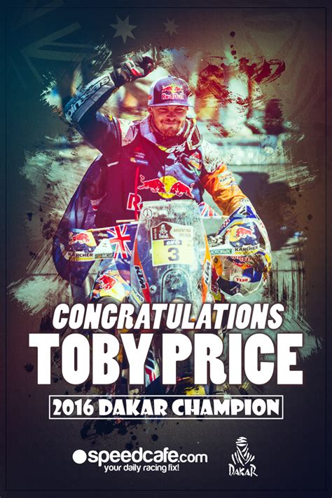 poster toby price  dakar champion speedcafe