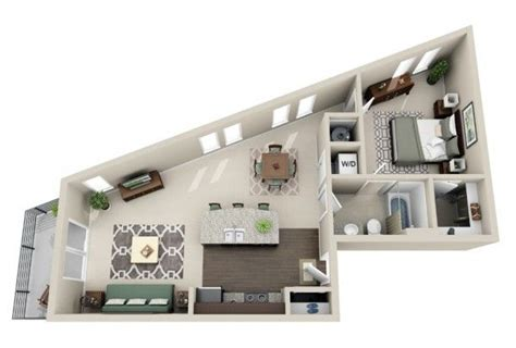 50 plans en 3d d appartement avec 1 chambres bedroom apartment one bedroom and 1 quot