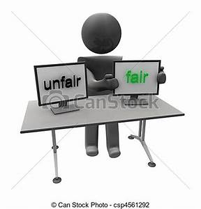 Clip Art of unfair fair - people with text csp4561292 ...