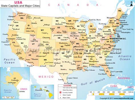 map  states  cities list  major cities  usa
