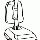 Coloring Vacuum Cleaner sketch template