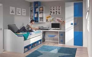 Chambre Garcon Bleu Et Gris : 50 id es pour la d coration chambre ado moderne ~ Dode.kayakingforconservation.com Idées de Décoration