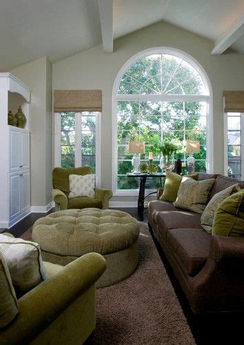 Living Room Ideas Green Brown by Light Grey Walls Chocolate Brown Sofa Green Accent
