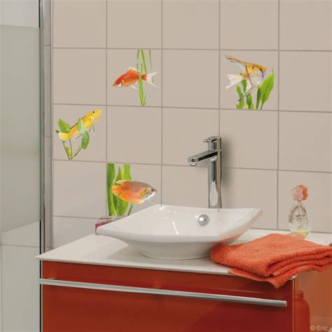 stickers carrelage cuisine finest stickers poissons stickers salle de bain vinilos