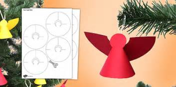 cone template twinkl paper angels craft activity paper angels paper model
