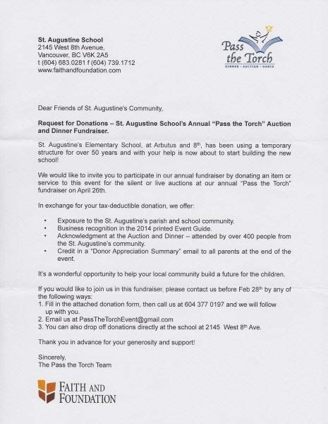 donation letter raffle ideas fundraising letter
