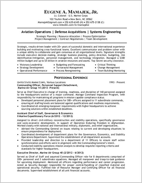 exles of resume to civilian resume resume