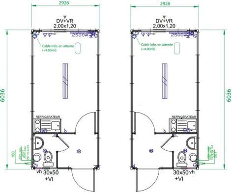 Container  Conteneur Sanitaire Askw 6m3m Module