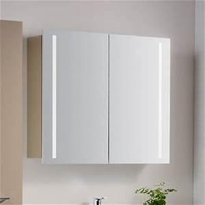 Spiegelschrank 55 Cm Breit : architekt 400 spiegelschrank 80 cm mit led beleuchtung mbsc3781spe megabad ~ Indierocktalk.com Haus und Dekorationen