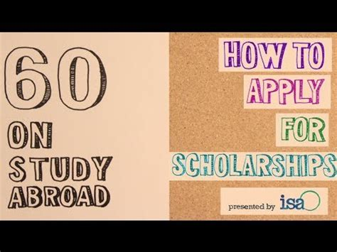 60 on study abroad how to apply for scholarships
