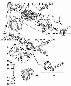 Axle  Rear  With Differential  Housing And Axle Shafts For