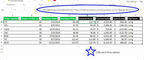 excel stock quotes template exceltemplates