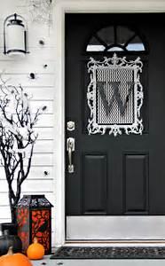 Four, Ideas, For, Inexpensive, Halloween, Door, Decorations
