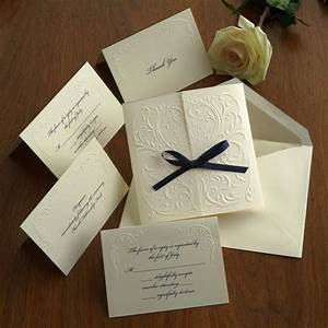 blind embossed wedding invitation set raised With personalised embossed wedding invitations
