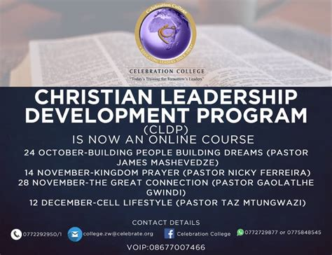 christian leadership development program celebration